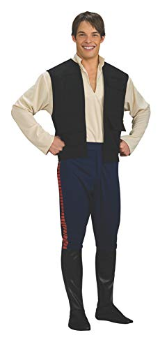 Star Wars Deluxe Hans Solo Costume, Black/Blue, -