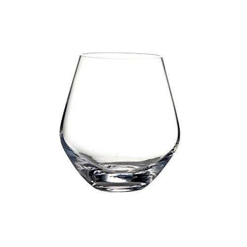 Fitz and Floyd Michel Rounded Stemless Glasses (Set of 4), Clear by Fitz and - Glass Art Fitz Floyd &