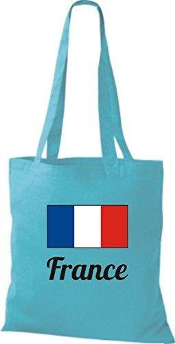 shirtinstyle Bolsa de tela bolsa de algodón länderjute Francia Francia - fucsia, 38 cm x 42 cm SKY