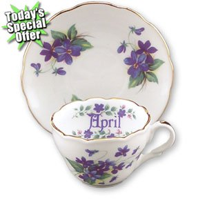 Flower Saucer Cup (April Flower of the Month Mini Cup/Saucer)