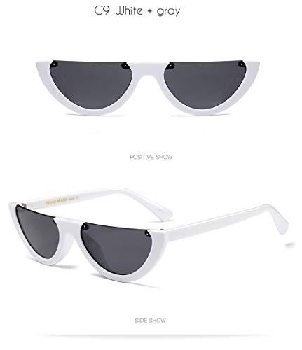 ac3d701ad1 Half Clout Cat Eye Sunglasses Modern Half Moon 1990s Cut Off Half Frame  Kurt Cobain Sunglasses
