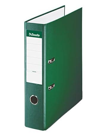 Esselte 42302, Archivador de Palanca de PP de Plástico Forrado, Verde, Anchura lomo