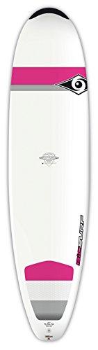 "BIC Sport DURA-TEC Mini-Nose Rider Wahine Surfboard, 7'6"" x 22.25"" x 2.9"" x 62 Large, White/Pink"