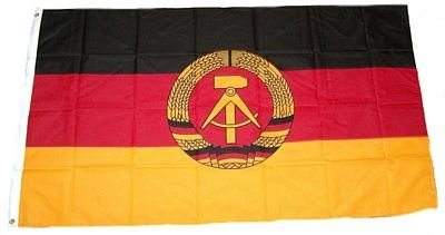 Flaggenking Flaggen/Fahnen, DDR Neu, wetterfest, Mehrfarbig, 150x90x1 cm, 16347