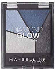(Maybelline Eye Studio Diamond Glow Eye Shadow Quad - 01 Blue Drama - Pack of)