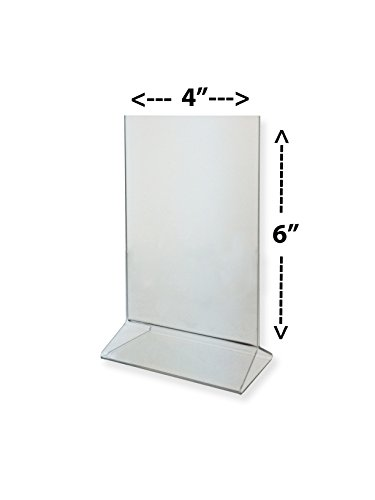 gn Holder 4x6 Clear Acrylic Table Top Tent Style Top Loading Sold in Lots of 25 ()