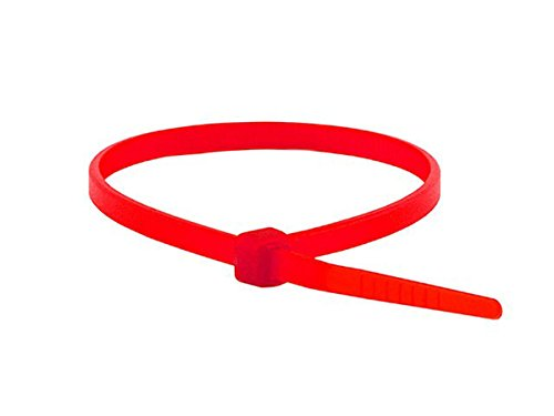 Monoprice Cable Tie 4 inch 18LBS, 100pcs/Pack - Red by Monoprice (Image #3)