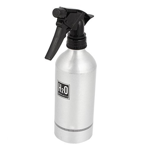 DealMux tom de prata de alumnio preto gua Gatilho pulverizador garrafa 500ml