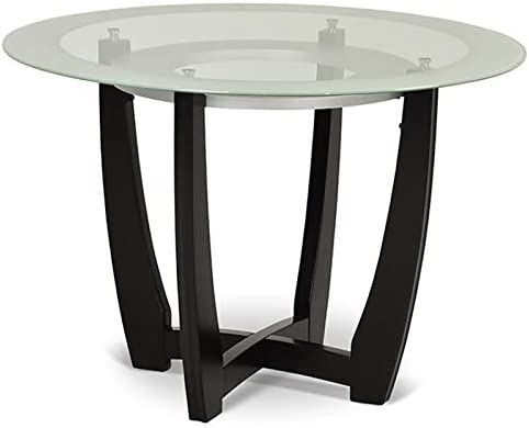 Steve Silver Verano 45 Round Glass Top Dining Table