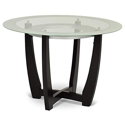 """Steve Silver Verano 45"""" Round Glass Top Dining Table in Espresso"""