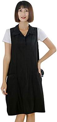 Surrui Hairdresser Barber Apron Jacket Vest for Hair Salon Nail Tech Massage Therapist Beauty SPA Sleeveless W