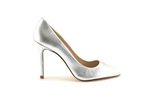 ConBuenPie by ENYA - New Collection - Salon de Piel Stiletto de Mujer Colores Plata y Platino Plata