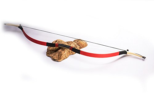AC ARCHERY Red Traditional Children Bow 7-16 Years Old Qing Bow Recurve Bow for Beginner or Practitioners 10-40lbs Hunting (15lbs) (Best Bow For A 12 Year Old)