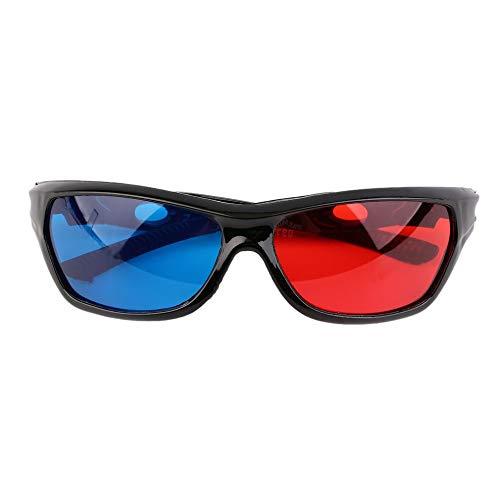 3D Glasses, Universal 3D Glasses Black Frame Red Blue 3D Visoin Glass for Dimensional Anaglyph Movie Game DVD Video TV