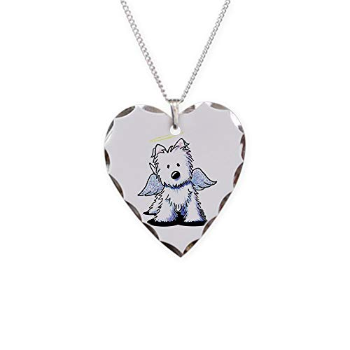 - CafePress Kiniart Westie Angel Charm Necklace with Heart Pendant