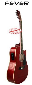 Fever Acoustic Electric Guitar Red SL-700CER best to buy