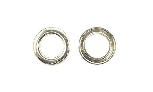 Snap On Grommets (40Mm Silver Extra Large Eyelets Pack Of 10 - Grommets For For Clothing And Leathercraft - Washers For Vinyl Banners & Canvas)