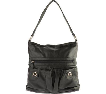 r-r-collections-front-pocket-turn-lock-shoulder-bag