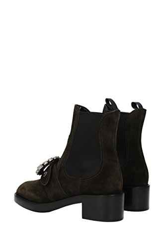 websites cheap online Miu Miu Ankle Boots Women - Suede (5T169BSCAMOSCIATO4) UK Green outlet finishline MhR0Kd