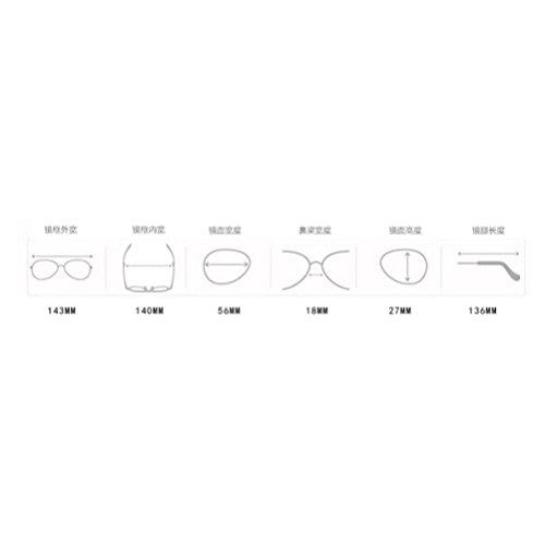 Polarisées Lunette Jaune Protection Lunettes Femme Soleil Uv Metallique Longra Mode Frame De Small p78qv