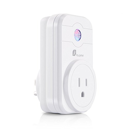 Wifi Smart Plug, Houzetek Mini Wireless Smart Socket App Remote And Voice Control With Timing Function, Compatible with Alexa, Google Home