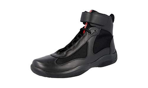 (Prada Men's 4T0341 O0V F0002 Black Leather Sneaker EU 6 (40) / US 7)