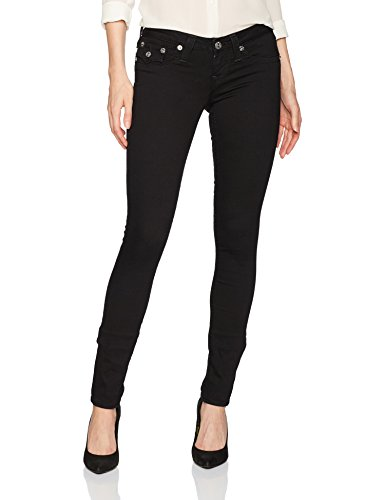 True Religion Women's Skinny Jean with Back Flap Pockets, Body Rinse, (Back Skinny Jeans)