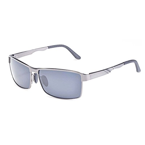 de y de Polorized inoxidable transporte UVA aleación gris plata adultos de TAC metal acero Ultra sol de y Premium UV400 compuesto ® UVB de bolsa gafas lentes aluminio RvTnX