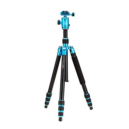 (CJGXJZJ Portable Camera Tripod, Light Aluminum Alloy Bracket, SLR Camera Bracket, Travel Tripod, Maximum Load Capacity 12KG, with Carrying Case, Multi-Color Optional (Color :)