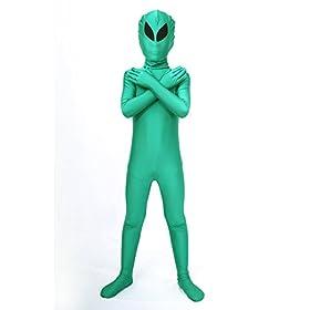- 311dPPXpJ3L - Halloween Costume ET Dress Up Alien Kids Zentaisuit Adult Lycra Spandex Bodysuit