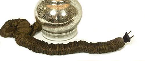 Espresso Designer Cords Silk Lamp Cord Cover 9 ft long 100% REAL SILK