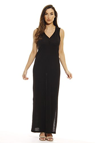 Just Love 401501-BLK-L Summer Dresses/Maxi Dress Heathered Black