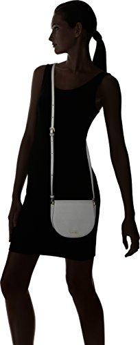 Calvin Klein Marissa Saddle Bag - Bolso bandolera Mujer Gris (Steel Grey)