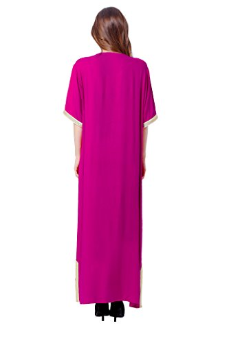 Islamic Dress Women Dubai Abaya Gown Clothing Jalabiyas Rayon Roseo Caftan Muslim Baya nRwaqOX