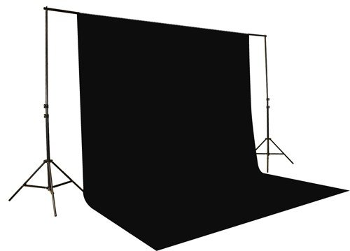 Jtl Heavy Duty Clamp (Caltar 100% Cotton Photo Studio Video 10 X 20 Ft Black Muslin Photography Backdrop Background)