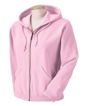 Comfort Colors Ladies' 10 oz. Garment-Dyed Full-Zip Hood, Blossom, (Pigment Dyed Cotton Full Zip)