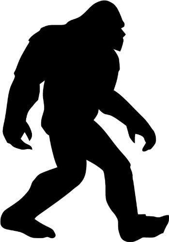 "BIGFOOT WALKING 5"" (color: BLACK) Vinyl Decal Window Sticker for Cars, Trucks, Windows, Walls, Laptops, and other stuff."