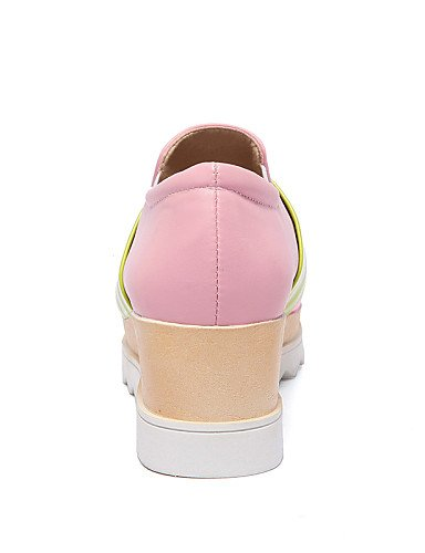 gyht cn43 Plataforma 5 Cuero 5 uk8 5 pink Blanco Punta cn43 Cuadrada de white pink us10 mujer Creepers ZQ uk8 us6 Azul Patentado us10 eu42 cn37 5 uk4 Mocasines Casual 5 5 eu37 eu42 Zapatos Rosa 5 7 dvIqw1