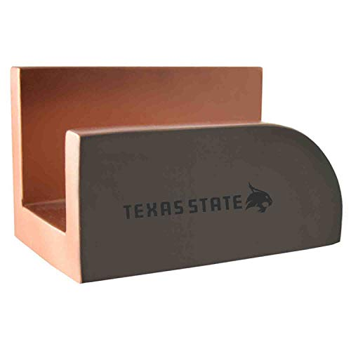 Texas State University-Concrete Business Card Holder-Grey
