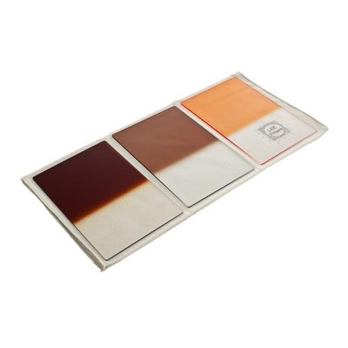 Lee 4 x 6'' Autumn Tint Resin Filter Set (Graduated Filters - Hard Edge - Chocolate 2, Tobacco 2, Coral 6) by Lee