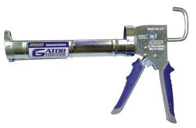 Newborn Caulk Gun Half Barrel Industrial 1/10 Gl 6:1 D-Ring, Spout Cutter, Wrist Strap