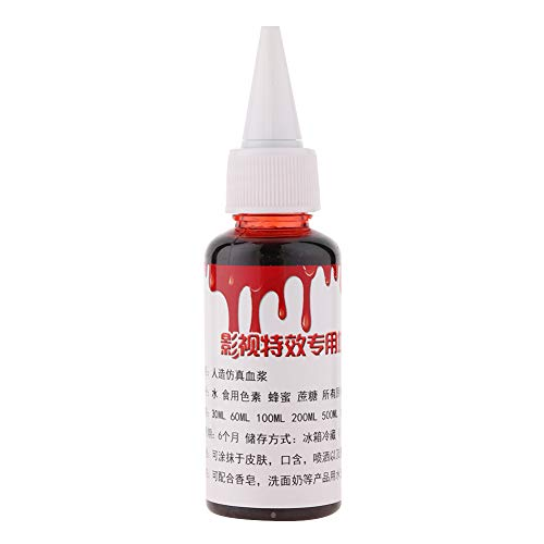 Professional Fake Blood, Edible Special Halloween Wound Scars Zombie Fancy MakeUp Fake -