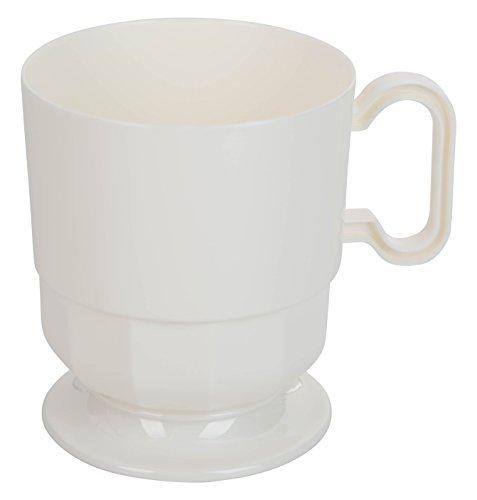 ium Plastic Coffee Cups - 8 oz Coffee Mug - Ivory Tea Cup - 40 - Count … ()