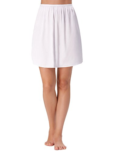 - Women's Plus Size Short Half Slip a Line Anti-Static Underskirt White X-Large KK265-2