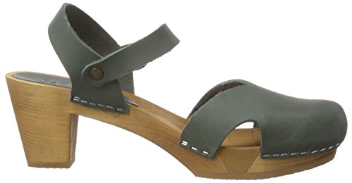Sanita Matrix Square Flex Sandal, Women's Clogs Green - Grün (Khaki / 43)