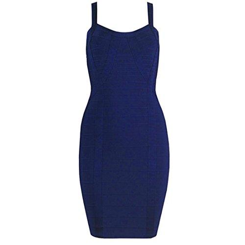 Kleid Kleid HLBCBG HLBCBG Damen Blau Blau Damen qI0zxdw