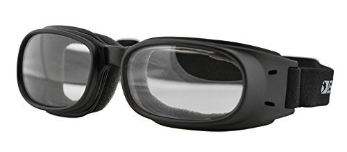Bobster Piston Motorcycle Goggles Clear Lens