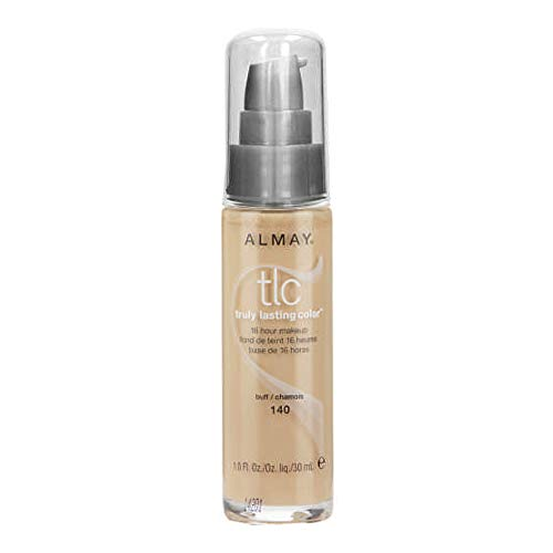 Almay TLC Truly Lasting Color 16 Hour Makeup, Buff 02 [140] 1 oz (Pack of 2)