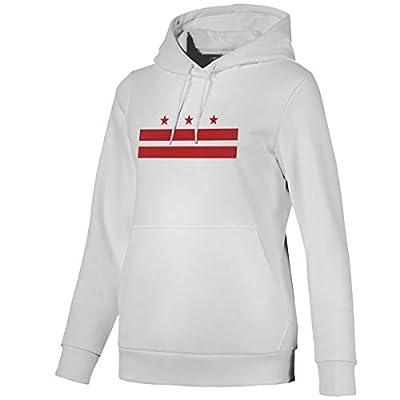 Washington DC Flag Womens Hoodies Women's Sweatshirts Hooded with Pockets White