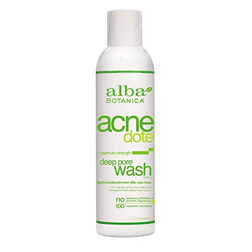 Alba Botanica Acnedote Maximum Strength Deep Pore Wash, 6 oz.